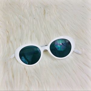 Accessories - White frame summer sunglasses